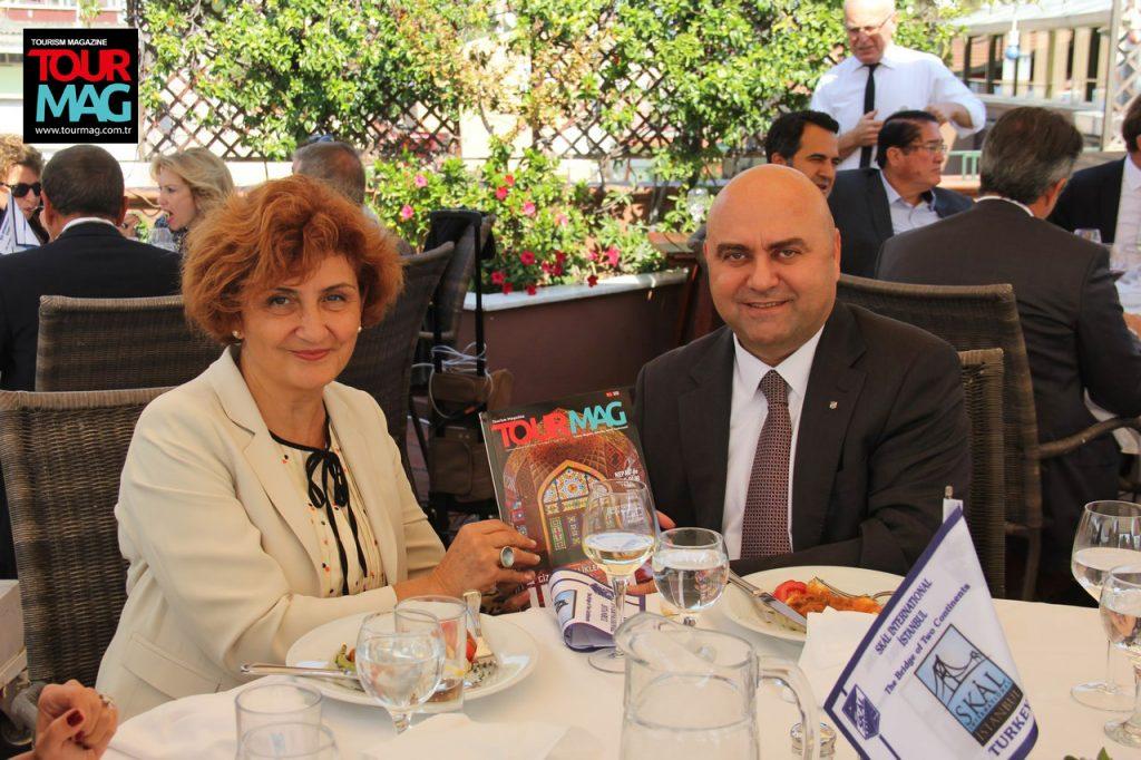 Çelebi Hava Servisi A.Ş. Kurumsal İletişim Müdürü Leyla İrten ve Genel Müdür Osman Yılmaz