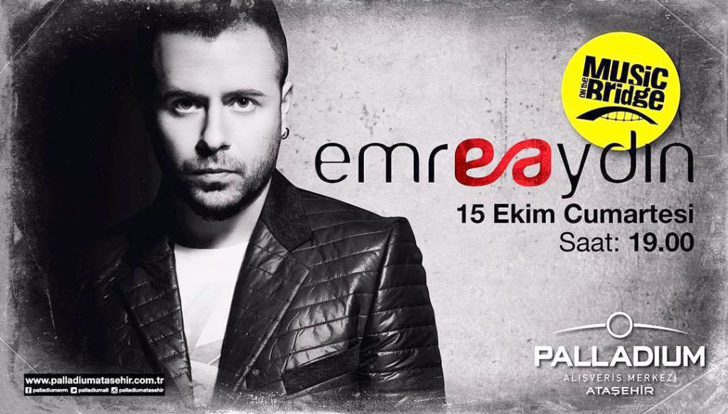 """15 Ekim Cumartesi günü Palladium'da hayranları ile buluşacak olan Emre Aydın, """"Eylül Geldi Sonra"""" albümünde yer alan """"Buralar Yalan"""" isimli şarkısı ile listelerin üst sıralarında yer almayı sürdürüyor..."""