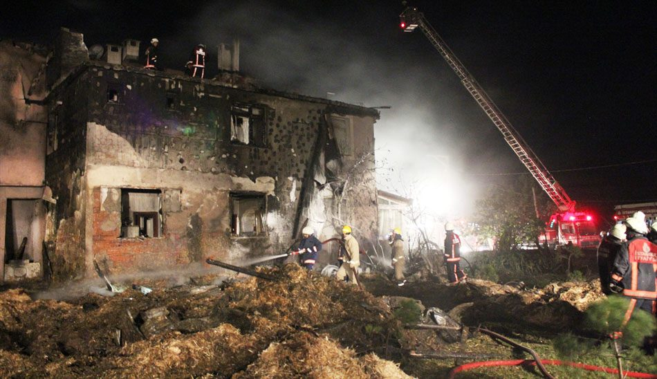 Riva'da yangın