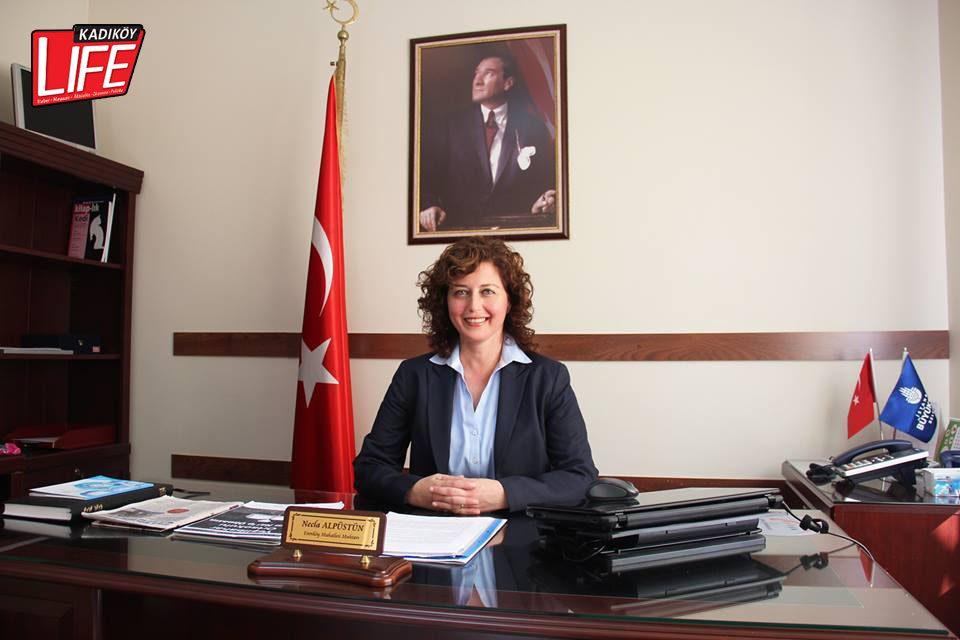 Erenköy Mahalle Muhtarı Necla Alpüstün.
